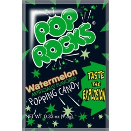 Destockage - Pop Rocks Sucre pétillant gout pastèque - 9.5 Gr