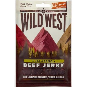 Wild West Beef Jerky - viande séchée recette jalapeno - 25 Gr