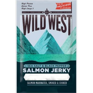 Wild West Salmon Jerky - saumon séchée recette sel et poivre - 30 Gr