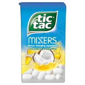 Tic Tac Mixers Noix de coco / ananas - 18 Gr