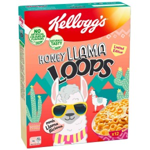 Kellog's Honey Llama Loops  - 375 Gr