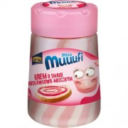 Pâte à tartiner saveur fraise et lait 400 Gr