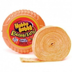 Hubba Bubba Bubble Tape Tangy Tropical - 56 Gr