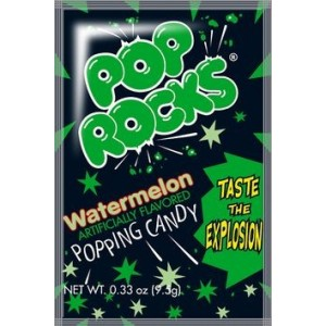 Pop Rocks Sucre pétillant gout pastèque - 9.5 Gr