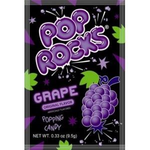 Pop Rocks Sucre pétillant gout raisin - 9.5 Gr