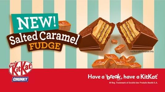 Découvrez ce fabuleux Kit Kat Chunky fourré au caramel et agrémenté d'une pointe de sel